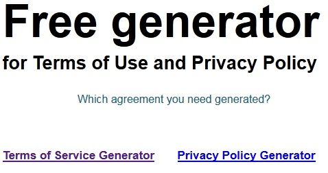 generate privacy policy for website