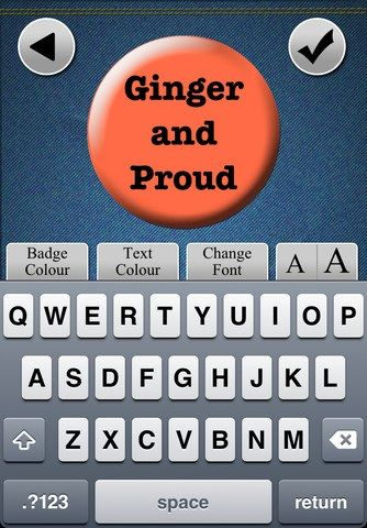My Badge: Create & Order Custom Photo & Text Button Badges [iOS] Ginger