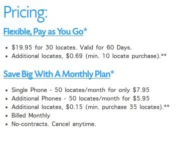 Mobile Locate: Locate Your Phone Through GPS & Cell Network Data Pricing