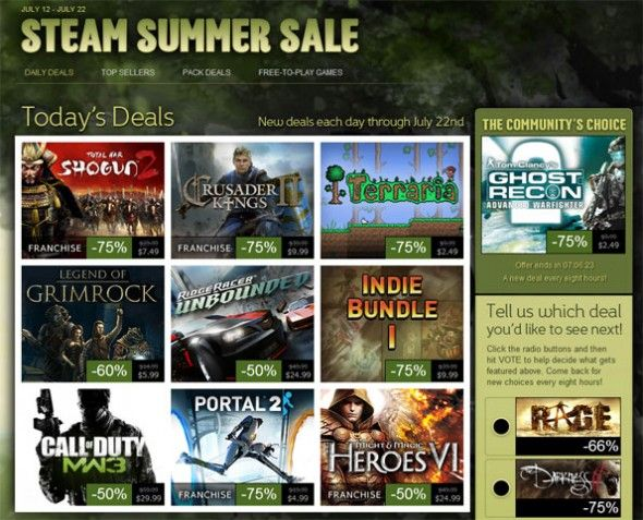 I Abandoned PC Gaming, But Now I'm Back & Here's Why Steam Summer Sale e1343072416994