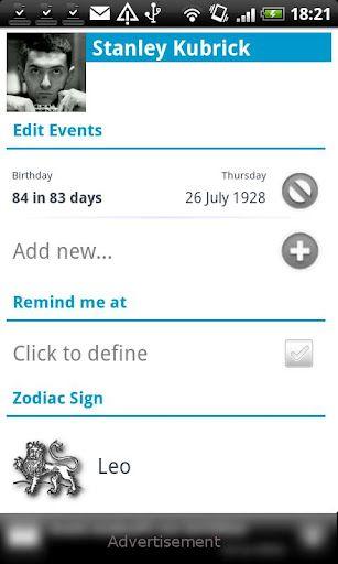 birthdays app   Birthdays: Birthday Reminders For Friends & Celebrities [Android]