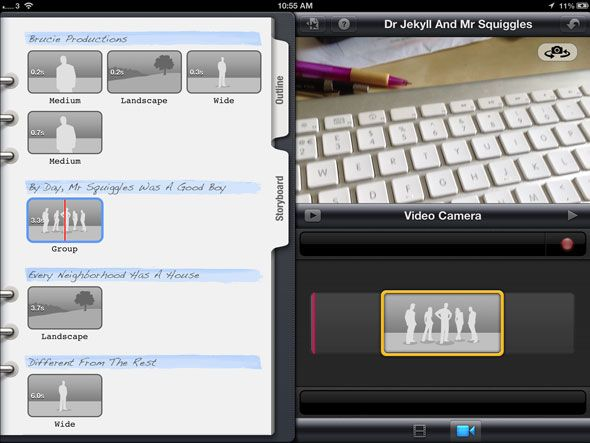 Making A Legendary Movie Trailer With iMovie On The iPad   camera