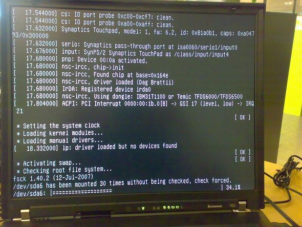 switch linux root filesystem
