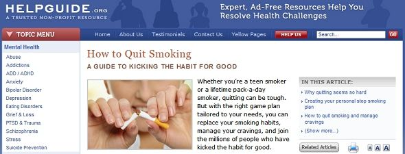 quit smoking websites