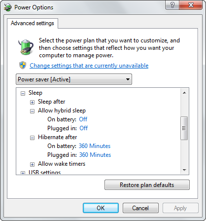 windows 7 hibernation issue