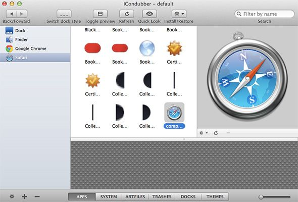 Manage Mac OS X Icons & Themes For Free With iCondubber