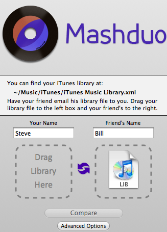 compare itunes music libraries