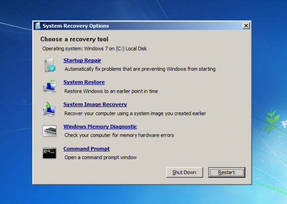 fix windows 7 rebooting