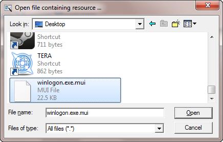 Tweak a file with Resource Hacker
