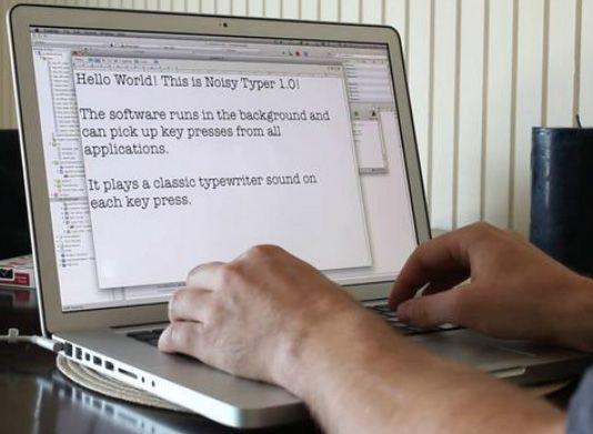 make your keyboard sound like a typewriter