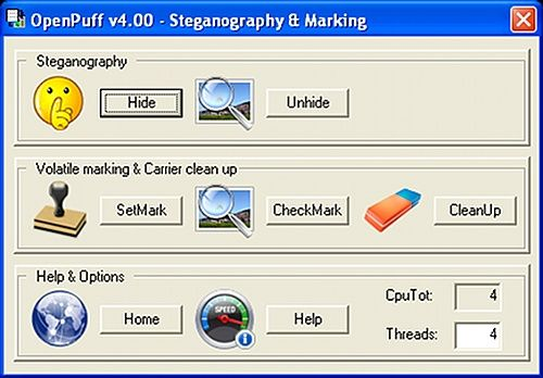 openpuff   OpenPuff: Professional Strength Steganography By Hiding Data In Photos & More [Windows]
