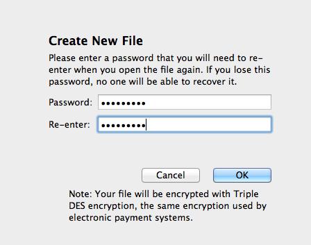 passwordpad1   Password Pad: Writing App With Full Encryption [iPhone & Mac]