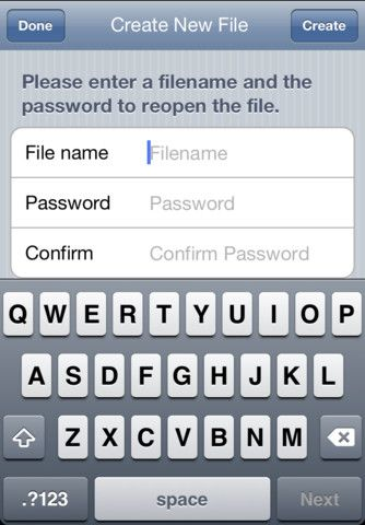 passwordpad2   Password Pad: Writing App With Full Encryption [iPhone & Mac]