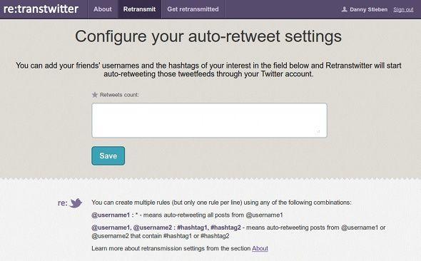 automatic retweet on twitter