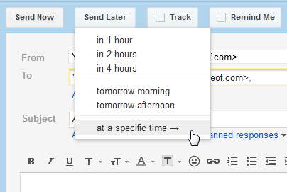 gmail scheduling emails