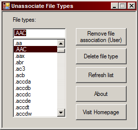 file type association windows 7
