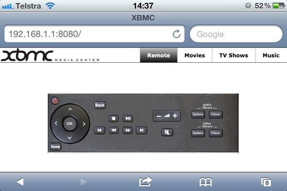 free xbmc remote iphone