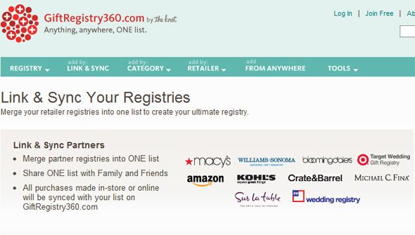 wedding registry sites