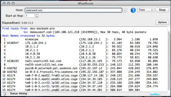whatroute   WhatRoute: Visualize The Path Data Packets Travel To Reach Your Computer [Mac]