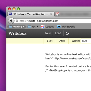 WriteBox: Online Text Editor That Connects To Dropbox