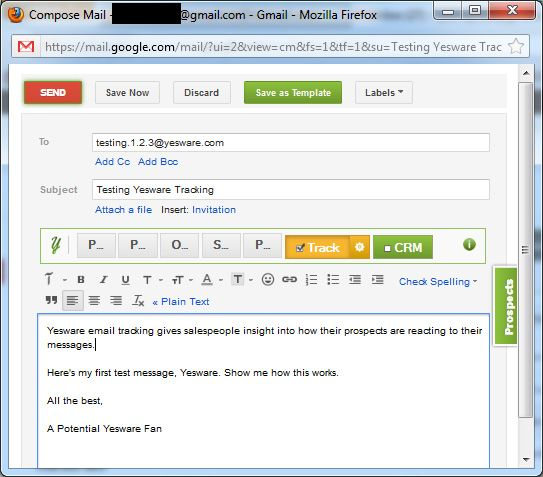 send email page viewed