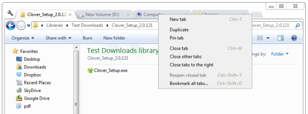 chrome like tabs to windows 7