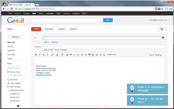 gmail shortcuts guide