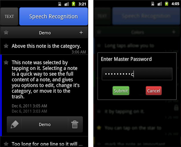 ListNote: Writing Notes Becomes Hassle-Free With The Speech-To-Text Feature [Android] 2012 08 11 22h23 26