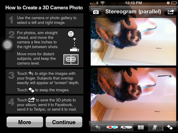Old-Time Fun: How To Make 3D Images For Viewing With No Glasses 3d camera app screenshot