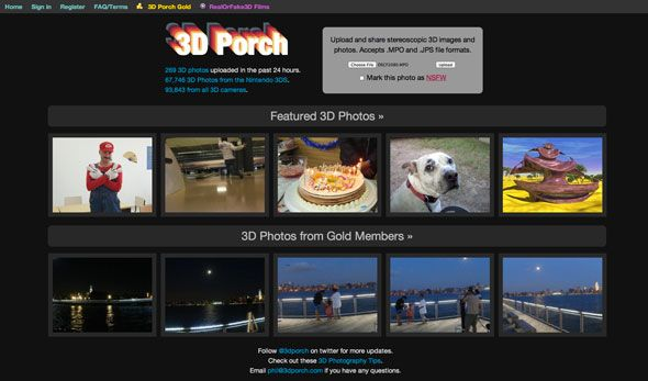 Old-Time Fun: How To Make 3D Images For Viewing With No Glasses 3d porch homepage