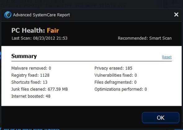 Advanced SystemCare 6 Beta 2.0 - Your Very Own PC Doctor [Windows] ASC PC Health Monitor Window larger