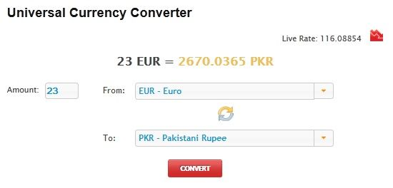 get currency rates