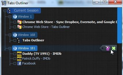 Current   Tabs Outliner: Easily Manage The Tabs & Windows of Google Chrome