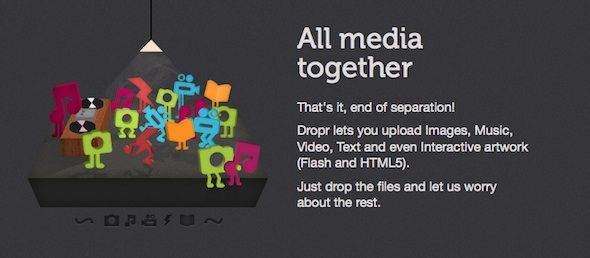 Dropr Splash   Dropr: Create Beautiful Multimedia Portfolios For Free