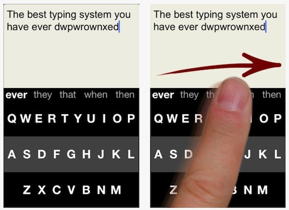 iphone app for easy typing