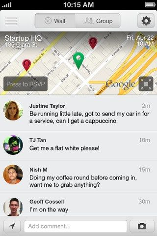 Group   Hipvite: Arrange Events & Invite People To Them Through Your iPhone