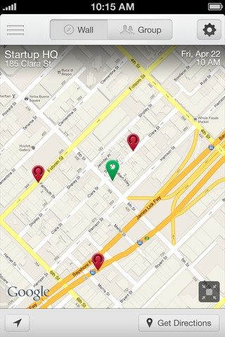 Map   Hipvite: Arrange Events & Invite People To Them Through Your iPhone