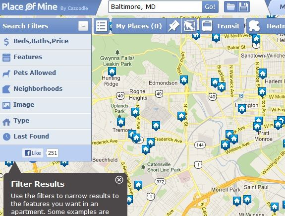 Map1   PlaceofMine: Use Various Parameters to Search for Places to Live in Your City