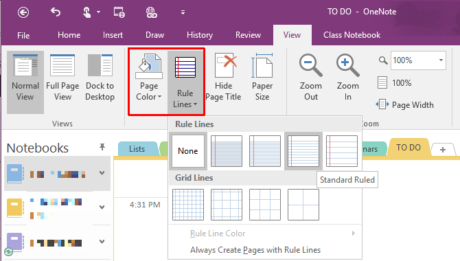 10 Awesome OneNote Tips You Should Be Using All the Time OneNote Paper Rule Lines 670x380