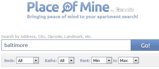 Placeofmine   PlaceofMine: Use Various Parameters to Search for Places to Live in Your City