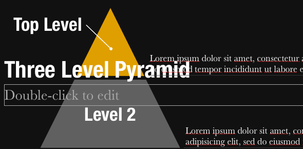 Create Professional Presentations in Minutes With Slidevana for PowerPoint and Keynote [Giveaway] PyramidDiagram