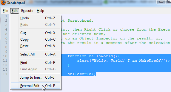 scratchpad text editor