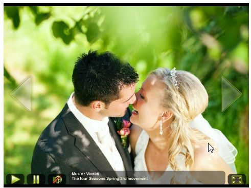 create slideshows wedding