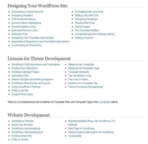 Learn To Code: 10 Free And Fantastic Online Resources To Hone Your Skills WordPress Codex List