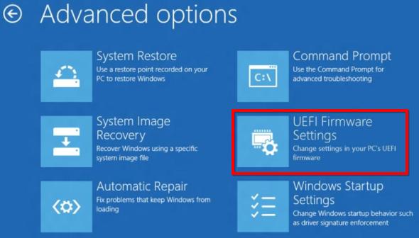 Masukkan UEFI BIOS
