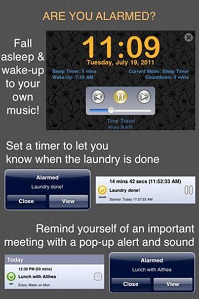 alarmed   Alarmed: A Full Featured All in One Alarm [iOS 4.0+]
