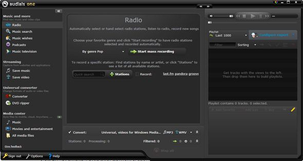 Download and Record Music For Free Using Audials One 9 audials one overview