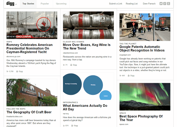 Discover The Best Of The Web With The New Digg v1 digg top stories