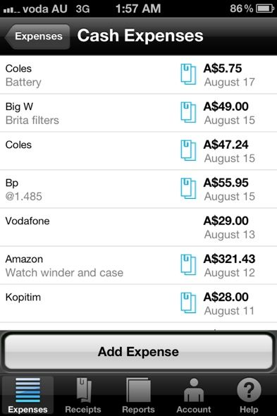 expense tracker application