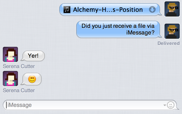 Bye Bye iChat: Getting Started With The New OS X Messages App [Mountain Lion] file transfer